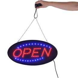 commercial neon signs wholesale Coupons - Bar open LED lights Neon Sign OPEN LED business open sign advertisement board Electric Display Sign