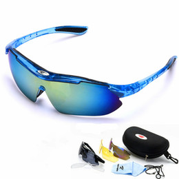 vision bicycle Coupons - Polarized Cycling Eyewear Sunglasses Night vision Mountain Bike Goggles 3 Lens UV400 Bicycle Eyewear Sunglasses Sports Glasses