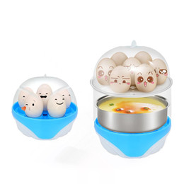Wholesale layer egg - Multifunction Two Layer Egg Boil Machine Mini Auto Power Off Eggs Poachers Practical Creative Steaming Tools 9 2jb Z