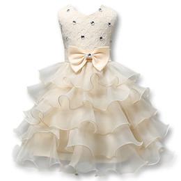 Canada En stock robes de filles de fleur une ligne dentelle filles robes de pageant 2018 robe de communion fille une ligne robe de vêtements de fille de fille de cérémonie Offre