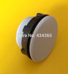 Wholesale Hole Plastic Buttons - Free shipping 10pcs 30mm mount hole grey Black plastic push button switch panel plug cap