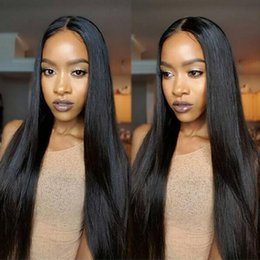 wholesale silky hair Coupons - 360 Lace Frontal Wig Pre Plucked With Baby Hair Straight Lace Front Human Hair Wigs For Black Women Remy Lace Front Rosa Queen