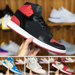 best service fefda 7de5f Nike Air Jordan 1 OFF White AJ1 OW 2018 Nouvelle Arrivée Off OG Top 1 Hommes  Noir Or 1s Sneakers Haute Qualité NUC En Plein Air Entraîneurs Hommes blanc  ...