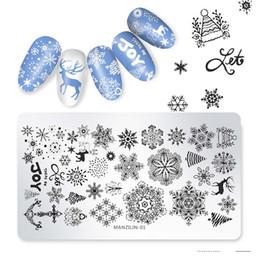 2019 медведь марки Шаблон для рождественских штемпелей для ногтей из снежинок дешево медведь марки