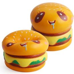 1 pc Sorvete pinguim Bonito Jumbo Suave Squishy Sorriso Encantos Hamburger Lento Rising Kawii Kid Toy Emoji Correias de pêssego chave Decoração Celular supplier keys smile de Fornecedores de chaves sorriso