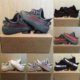 Bebê crianças executar sapatos kanye west sply 350 v2 tênis de corrida crianças athletic shoes meninos meninas beluga 2.0 sneakers preto vermelho