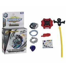 Wholesale 75 b - 6pc Beyblade Metal Funsion 4D Fighting Gyro B-85 B-75 B-82 B-73 B-79 B-74 Spinning Top With Launcher Original box Classic Toys Gift For Kid