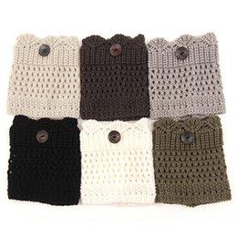 Wholesale Wholesale Hollow Knee Boots - 2015 Sale Women Winter Leg Warmers Acrylon Wool Crochet Hollow Knit Boot Socks Toppers Cuffs