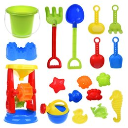 Wholesale Kids Beach Set - Kids Beach Sand Toys Set with Mesh Bag, Sandbox Toys Sand Wheel and Sand Molds, Tool Play Set, Watering Can, Shovels, Rakes, Bucket , Sea Cr