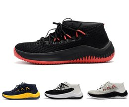 Wholesale Beat Man - 2018 Damian Lillard 4 Core Black Buzzer-Beating dame knit cut low ultra boost for Men Basketball Shoes Basketball Sneakers Size 7-11.5