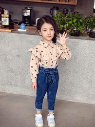 Pantalon bébé pantalon crayon en Ligne-Nouvel Automne Bébé Filles Jeans Bowknot Enfants Denim Pants Crayon Pantalon Enfants Casual Jeans Denim Pantalon 4069