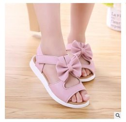 Wholesale Fashion Ankle Support - 2018 New Summer Fashion Children Shoes Toddler Girls Sandals Kids Girls PU Leather Sandals Butterfly with Arch Support