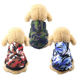 yorkie clothing Promo Codes - 3 Colors Winter Warm Pet Dog Clothes for Small Dogs Camouflage Dog Hoodies Puppy Cat Coat Jacket Chihuahua Yorkie Clothing Pets Products XXL
