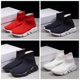 quality design 7b84e 07924 triple s Alta qualità a buon mercato tripla s 2018 donne uomini calzino  scarpe da corsa nero bianco rosso velocità allenatore sportivo sneakers  stivali alti ...