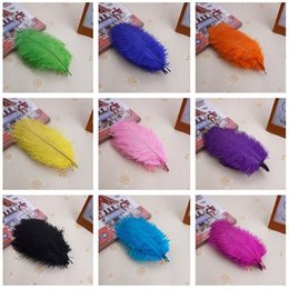 Wholesale Wholesale White Ostrich Feathers - Wholesale Ostrich feathers 50 Pcs   A Lot Of Color 15-20 cm   6 to 8 Inches Wedding Decoration Free Shipping