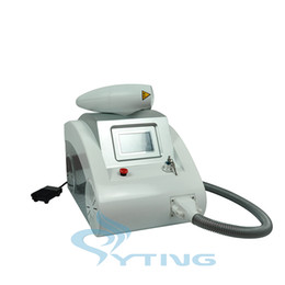 Wholesale Laser Hair Remover Machine - Laser Handle with Red infrared aim beem Q Switched Nd Yag Laser Tattoo Eyebrow Pigment Removal Machine Scar Acne Remover