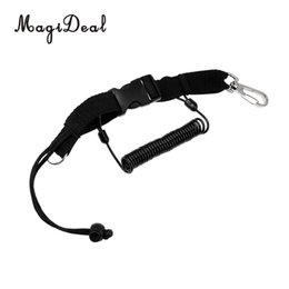 Wholesale Quick Release Snap - MagiDeal New Hot Sale Coiled Scuba Diving Lanyard Quick Release Buckle Gear Holder with Clip Snap