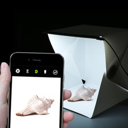 Складная фотостудия лайтбокс Софтбокс Светодиодный лайтбокс для iPhone Самсанг HTC Смартфон Цифровая зеркальная камера от