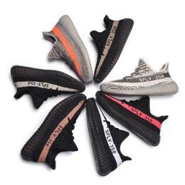 Wholesale Hard Coolers - 2018 SPLY-350 Boost New Kanye West Boost 350 V2 Grey Orange White Black Stripes Zebra Cool 350V2 Running Shoes For Men Women 36-45
