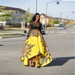 f7189dcdc6eb Gonna di abiti africani per le donne Gonna lunga africana irregolare Moda Donna  Gonna lunga di stampa africana Ankara Dashiki gonne africane di moda in ...