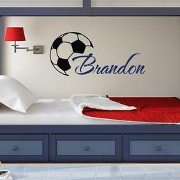 Huhome PVC Wall Stickers Wallpaper English Soccer eat sleep soccer children/'s ro