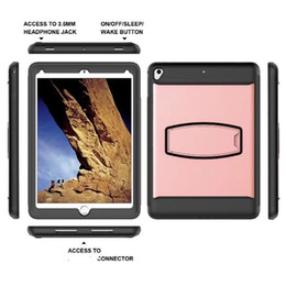 Wholesale impact protectors - Armor Impact Rugged Kickstand Shockproof for iPad 9.7 2018 2017 2016 Air 2 mini 1 2 3 Tab E T377 Tab A 8.0 T380 Build-in Screen Protector 20