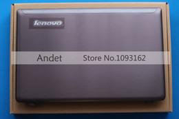Caso de antena on-line-Original novo para lenovo z570 z575 tampa traseira traseira lcd top case 15.6 '' laptop sem antena 31050911