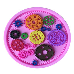 Wholesale Silicone Mould For Cupcake - Steampunk Gears Confeitaria Silicone Mold Fondant Cake Decorating Molds Cupcake Mould Chocolate Baking Tools for Cakes