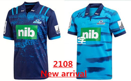 Wholesale Home Temperature - 2018 Blues Super Rugby Home Jersey New Zealand Super Rugby Union blues High-temperature heat transfer shirts size S-3XL MELBOURNE STORM