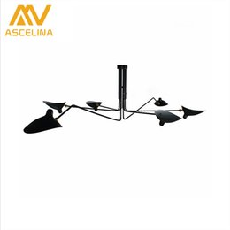 Wholesale live spiders - Retro industrial loft Nordic Iron Ceiling light living room creative artistic personality Duckbill lampshade spider Ceiling lamp