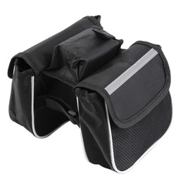 Wholesale denim tube - Bicycle Frame Front Head Top Tube Bike Bag Cycling For Cell Phone Bike Accessories