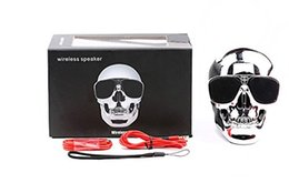 Wholesale Passive Mp3 - Fashionable Outdoor Skull Head Wireless Bluetooth Handsfree Speaker with Creative Design Stereo Sound 4000MAH Battery 6h of Playtime Support