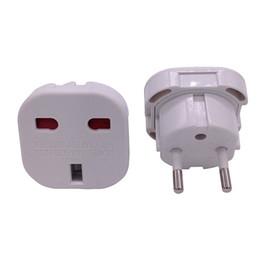 Wholesale eu socket plug - UK TO EU EUROPE EUROPEAN UNiVERSAL TRAVEL CHARGER ADAPTER PLUG CONVERTER 2 PiN Wall Plug Socket black white