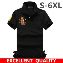 Wholesale Cool Cottons Shirts - S-6XL Summer Solid Embroidered Polo Shirts Men Short Sleeve Cool Mens Polo Shirt Brands Business Style Men's Polos Shirt