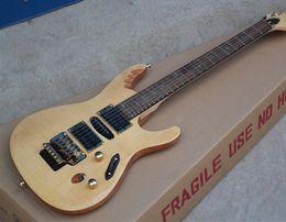 Super mince Herman Li EGEN8 Flame Maple Top Blonde naturelle guitare électrique Floyd Rose pont Tremolo, incrustation ovale Abalone, HSH Pickups ? partir de fabricateur