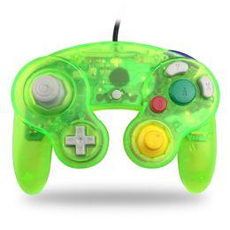 Controladores analógicos online-Juego con cable Cube Controller Gamecube para NGC Gaming Console Gamepad Wii Analog Stick Vibration Feedback Semitransparente Color