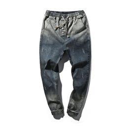 Großhandels- Herrenbekleidung Casual Jeans 2017 Männer Denim Hip-Hop-Jeans Pluderhosen Herrenhosen Männer Blau Hosen Größe Große Yards 5XL von Fabrikanten