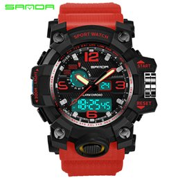 Relojes baratos online-Reloj deportivo digital Aimecor New Sale para hombre Reloj deportivo colorido Reloj deportivo doble Luxury Cold Light Electronic Waterproof