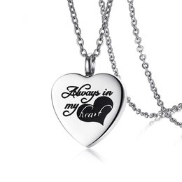 """Wholesale womens stainless steel heart necklace - Womens Pet Ash Heart Necklace Can Be Open Stainless Steel Love Pendant Necklace Chain For Women 20"""" Female Jewelry"""