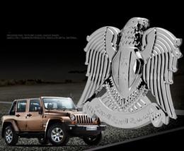 3d adesivi aquila online-Cool phoenix aquila totem refit adesivo auto, griglia metallica logo coda decor 3D metallo adesivo auto styling accessorries spedizione gratuita