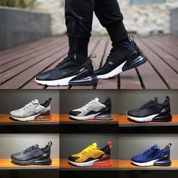 Wholesale Mens High Lace Boots - [With Original Box] High quality 27C Sneakers Mens Running Shoes Men 270 Triple Black Sport Boots Women Sport Shoes Sneakers