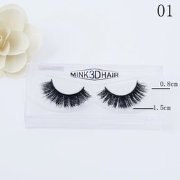 Wholesale Human 3d - Messy Eye lashes 13-16mm 3D Real Mink Eyelashes Extension Sexy Eyelash 10 Styles 1 Pair box for girls