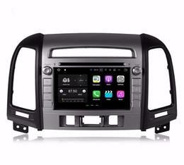 """Lecteur multimédia hyundai en Ligne-Quad core 7 """"Android 7.1 Lecteur DVD de voiture Multimédia Radio pour Hyundai Santa Fe 2006-2012 avec 2 Go RAM GPS Bluetooth WIFI 16 Go ROM"""
