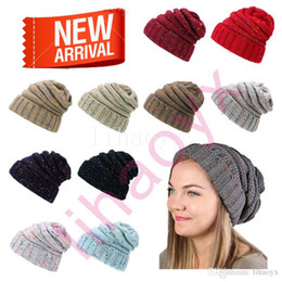 f662d727f17 fashion warm hat simple winter thick hat woman knitting woman Skullies  Beanies 14 color female warm hat