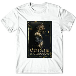 Wholesale Gowns Ancient - Ancient king t shirt Conor McGregor player short sleeve gown Wrestling sport tees Unisex clothing Quality modal Tshirt