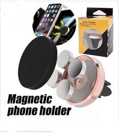 Wholesale Blue Dashboard Lights - Car Magnetic Air Vent Mount Mobile Smart Phone Holder Handfree Dashboard Phone Metal Stand For Cellphone iPhone 7 6 Samsung S8