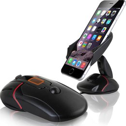 Wholesale cup holders for cars - Black Creative Windshield Dashboard Car Phone Stand Holder One Touch Mouse Suction Cup Cradle For LG G3 G5 Samsung Galaxy S6 S7 Edge