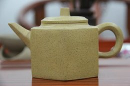 Wholesale Yixing Purple Teapot - The real yixing teapot purple clay teapot Famous artists manual Undressed ore section of clay pot six-party level