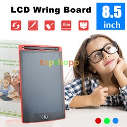 Wholesale Office Whiteboard - 8.5 inch LCD Writing Tablet Memo Drawing Board Blackboard Handwriting Pads With Upgraded Pen for Kids Office One Butt 50pcs DHL free