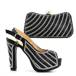 Wholesale african matching shoe bag - New Shoes and Bag Set African Sets Peach Color African Shoe and Bag Set for Party In Women Italian Shoes with Matching Bag Sets
